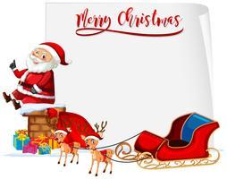 Frohe Weihnachten Sankt und Pferdeschlittenkonzept