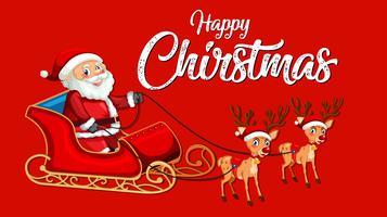 Röd glad julmall vektor