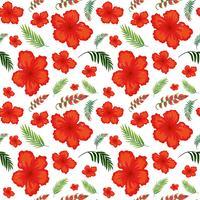 Hibiskus blomma sömlöst mönster vektor