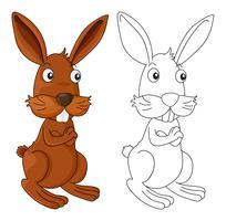 Tierentwurf für wildes Kaninchen vektor