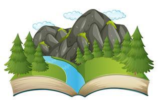 Öppen bokens naturtema
