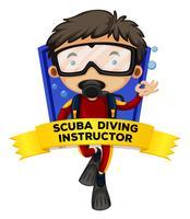 Occupation-Wordcard mit Tauchlehrer