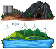 En uppsättning av naturkraftverk