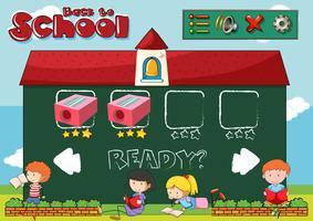 Zurück zur Schule Spielvorlage vektor