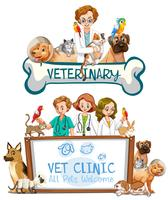 Tierarzt-Klinik-Fahne auf weißem Hintergrund
