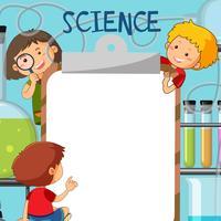 Kinder in der Wissenschaft Hinweis Vorlage vektor