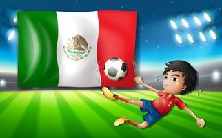 En fotbollsspelare i Mexiko