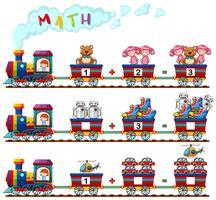 Att räkna antalet leksaker på tåget vektor