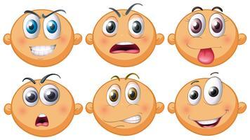 Baby mit sechs verschiedenen Gefühlen