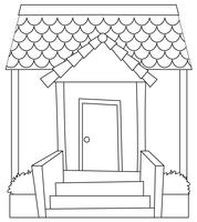 Einfache modren Hausskizze vektor