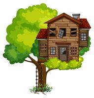 Gammal treehouse på trädet