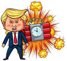 Präsident Trump und Zeitbombe vektor