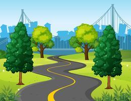 Vågig väg i stadsparken