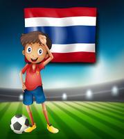 Thai fotbollsspelare på stadion vektor