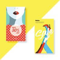 Mode-Instagram-Geschichtenschablonen-Vektor-Design