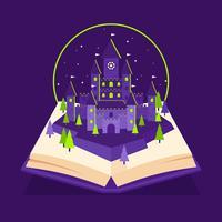 Zaubererschule Schloss Pop Up Buch vektor