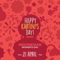 Kartini-Tagesvektor