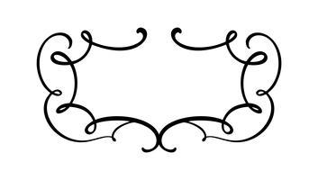 Flourish Vintage Vektor Kalligraphie Rahmen