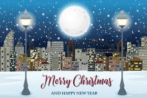 Frohe Weihnachten mit Stadtbild
