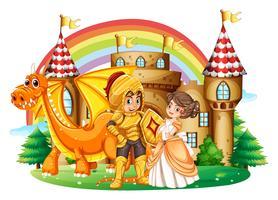 Riddare och prinsessa på palatset