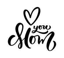 Liebe dich Mutter Vektor-Symbol