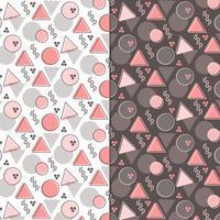 vektor memphis stil sömlösa mönster