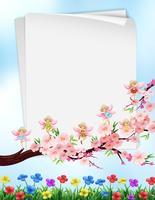 Pappersdesign med blommor och feer vektor