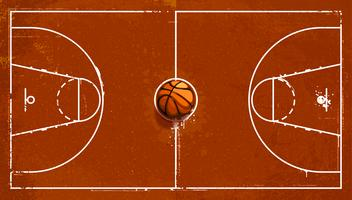 Grunge Basketballplatz vektor