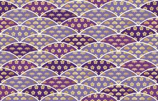 Japanisch traditionell günstiges Muster mit Kiefer, Bambus und Pflaume. vektor