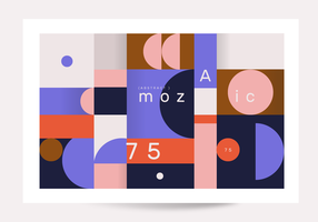 Abstrakt geometrisk affisch vektor