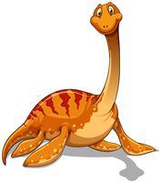 Dinosaur med lång hals vektor