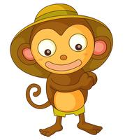 kleiner Affe vektor