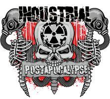 industriellt emblem med skalle