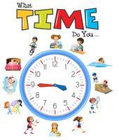 Uhrzeit und Aktivitätszeit vektor
