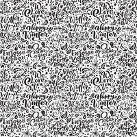 Seamless mönster för jul på en vit bakgrund med blomstra vektor xmas element av kalligrafi. Vackert mönster för ett lyxigt presentpapper, t-shirts, gratulationskort