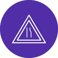 Vektor-Dual-Autobahn-Symbol vektor