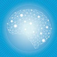 Konstgjord intelligens koncept illustration.