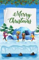 God jul på nordpolen vektor