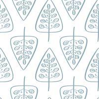 Jul vektor träd sömlöst mönster i skandinavisk stil. Bäst för kudde, typografi design, gardiner