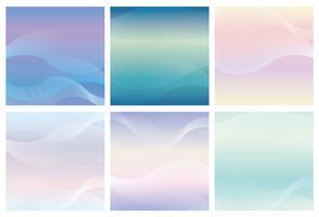 Quadratischer Hintergrund eingestellt mit gewellten Mustern. vektor