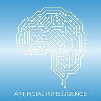 Konzeptillustration der künstlichen Intelligenz.