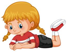 Kleines Mädchen mit glücklichem Gesicht vektor