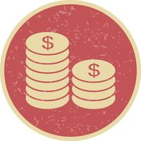 Münzen-Vektor-Symbol vektor