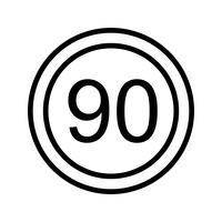 Vektor Geschwindigkeitsbegrenzung 90 Ikone