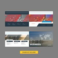 Corporate moderne Broschüre Designvorlage vektor