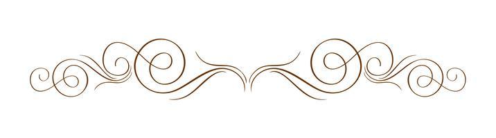 Vektor-Hand gezeichneter kalligraphischer Separator. Frühling Flourish Design Element. Floraler heller Stildekor für Grußkarten, Web, Hochzeit und Druck. Isoliert auf weißem Hintergrund Kalligraphie und Beschriftung Abbildung vektor