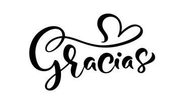 """Gracias"" (""Danke"" auf Spanisch) handgeschriebener Schriftzug"