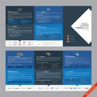 Designmall för företags modern broschyr
