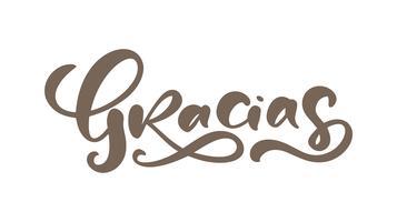 """""""Gracias"""" (""""Tack"""" på spanska) kalligrafi"""