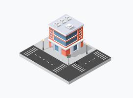 Web-Ikone Isometrische 3D-Stadtinfrastruktur, städtisch vektor